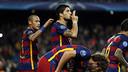 Luis Suárez scored the game-winner against Bayer Leverkusen. / MIGUEL RUIZ - FCB