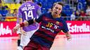 Filip Jicha, després de marcar un gol / GERMÁN PARGA - FCB