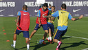 Luis Suárez, during the training session / MIGUEL RUIZ - FCB
