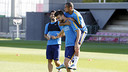 Suarez, Piqué et Neymar à l'entraînement / MIGUEL RUIZ-FCB