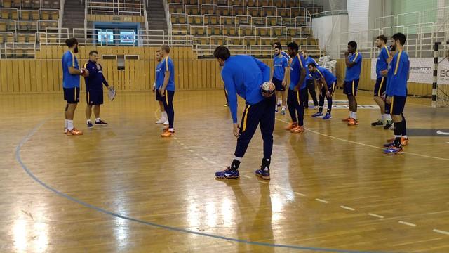 El Barça Lassa entrenando en Hungría / FOTO:FCB
