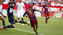 Neymar, face à Rico / MIGUEL RUIZ-FCB