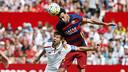 Sergio Busquets en action contre Seville / MIGUEL RUIZ - FCB