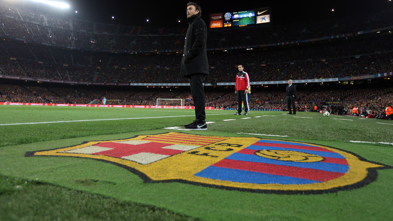Luis Enrique in a game last season at Camp Nou / MIGUEL RUIZ - FCB