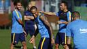 Neymar Jr, a l'entrenament d'aquest dimarts / MIGUEL RUIZ-FCB