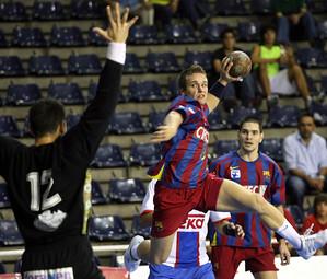 Víctor Tomás en un partit contra Teka de la temporada 2006/07 / FOTO:ARXIU-FCB