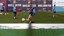 Aleix Vidal i Neymar, durant l'entrenament / MIGUEL RUIZ - FCB