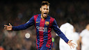 Neymar in action against PSG