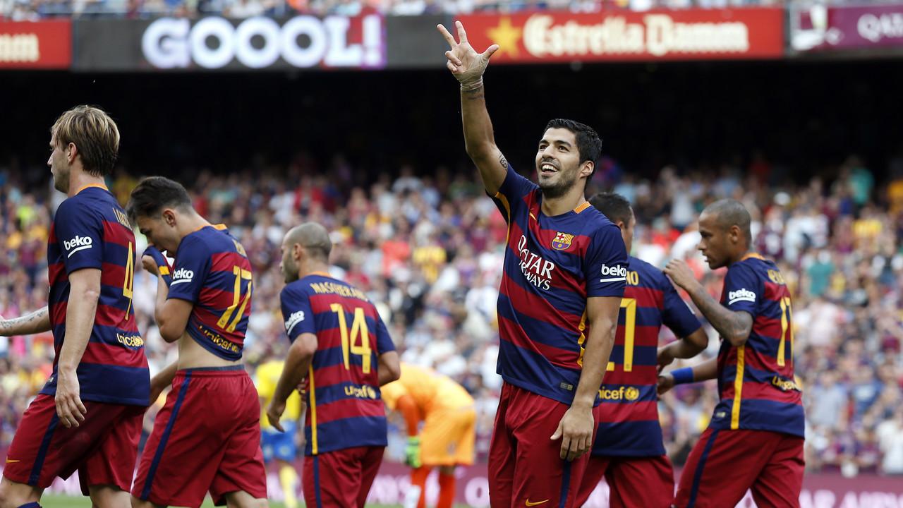 Luis Suárez celebra un gol contra la UD Las Palmas / MIGUEL RUIZ