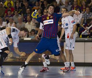 Entrerríos, en el darrer partit al Palau Blaugrana entre el FC Barcelona i Montpeller / FOTO:ARXIU-FCB