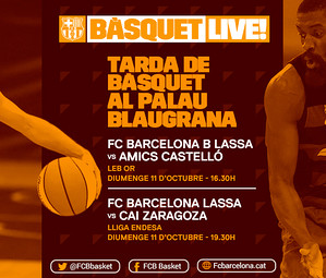 Cartell anunciatiu dels dos partits de bàsquet