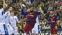 Sorhaindo, lors du dernier match de Ligue des Champions face à Montpellier / Victor Salgado FCB