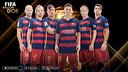 Les six finalistes du Barça pour le Ballon d'Or 2015 / FCB
