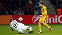 Rakitic scoring the second against BATE / MIGUEL RUIZ-FCB