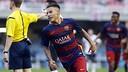 Maxi Rolón ha marcado el gol de la victoria del Barça B / MIGUEL RUIZ - FCB