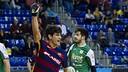 Pablo Álvarez celebrates one of the goals on Wednesday. / VICTOR SALGADO-FCB