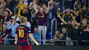 Bateria celebrates the winner with the fans / VÍCTOR SALGADO-FCB