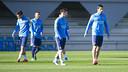 From left: Paik, Juanma, Messi and Suárez / VICTOR SALGADO - FCB