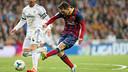 Leo Messi during his hat trick performance at the Bernabéu in 2013/14 / MIGUEL RUIZ - FCB
