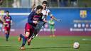 Carles Aleñá had a good game against Damm / VICTOR SALGADO - FCB