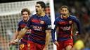 Suárez comemora o gol contra o Real Madrid / Miguel Ruiz-FCB