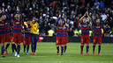 Barça players salute the travelling fans / MIGUEL RUIZ - FCB