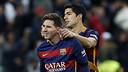 Lionel Messi masuk di paruh kedua dan memberikan kontribusi untuk gol kedua Suarez / MIGUEL RUIZ - FCB