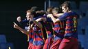 The U19 team has drawn with Roma 3-3 at the Miniestadi / MIGUEL RUIZ - FCB