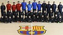 Rafinha with the 160 boys and girls from the FC Barcelona Soccer Camps / DAVID GRAU - FCB