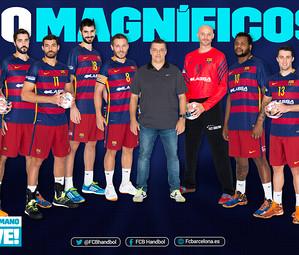 Los 10 magníficos del Barça de Balonmano / FOTO:FCB