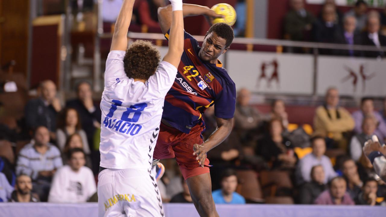 Jallouz, en una acció del partit jugat a Lleó / JAVIER QUINTANA