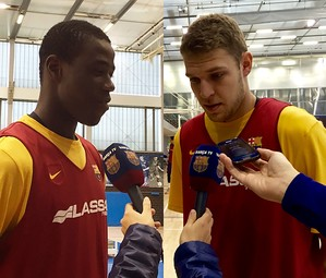 Diagne i Vezenkov, a la Ciutat Esportiva