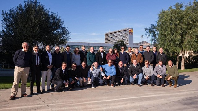 Members of the Board of Directors and of the Executive Committee on Sunday. / GERMÁN PARGA-FCB