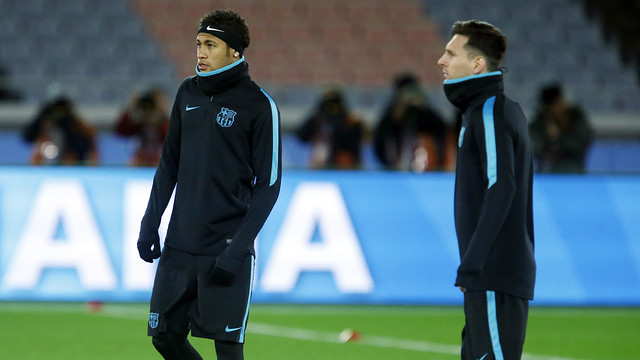 Neymar and Messi training with the rest of the squad in Yokohama / MIGUEL RUIZ - FCB