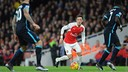 Arsenal's Mesut Ozil in action in the win over Manchester City / ARSENAL.COM