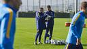 Barça B coaches overlook training session / VÍCTOR SALGADO - FCB