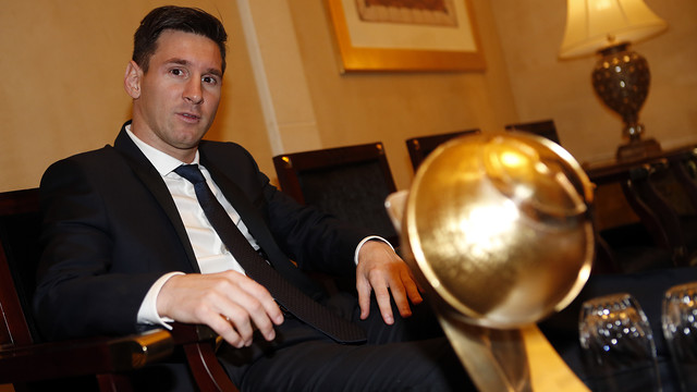 Leo Messi earned the best player award / MIGUEL RUIZ - FCB