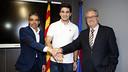 Xemi with Albert Soler and Sílvio Elías / MIGUEL RUIZ-FCB