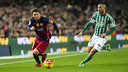 Leo Messi scored a goal in his 500th Barça game, a 4–0 win over Betis at Camp Nou on 30 December 2015. / MIGUEL RUIZ-FCB
