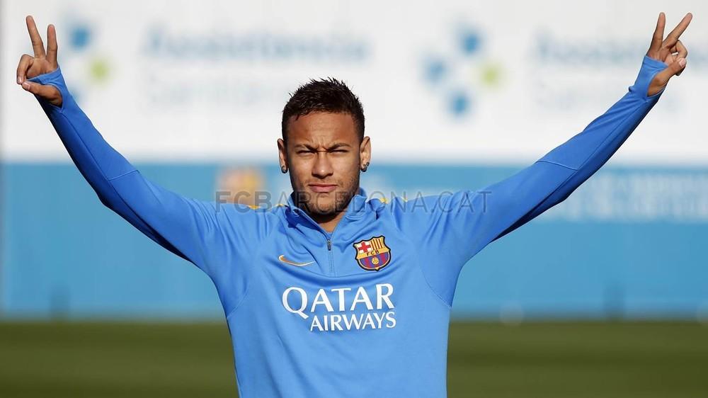 گزارش تصویری:نیمار در تمرین بارسلونا در 5/1/16