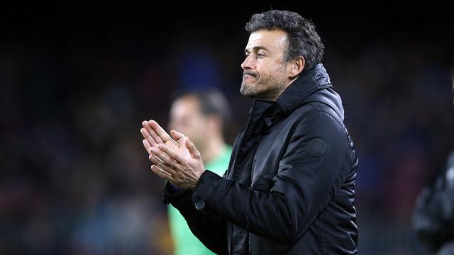 Luis Enrique was happy his team responded to the challenge. / MIGUEL RUIZ - FCB