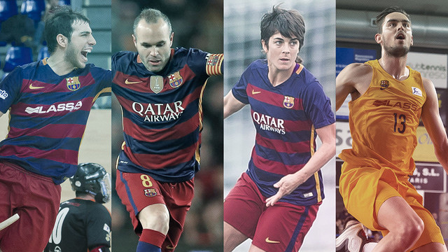 Football, futsal, roller hockey and basketball all this weekend at Barça /Montage - FCB