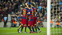 The team celebrates against Granada / VÍCTOR SALGADO - FCB