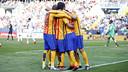 Le Barça célèbre sa septième victoire consécutive / MIGUEL RUIZ - FCB
