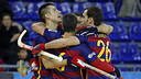 Barça Lassa rolled to an 8–2 rout on Saturday. / MIGUEL RUIZ - FCB