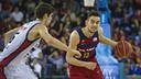 Satoransky in action versus Obradoiro at the Palau Blaugrana / VICTOR SALGADO - FCB