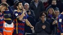 Luis Suárez scored FC Barcelona's first and last two goals of the night, sandwiching a Lionel Messi hat trick. / MIGUEL RUIZ - FCB