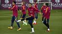 Neymar Jr durant l'entrenament d'aquest dissabte a la Ciutat Esportiva / MIGUEL RUIZ - FCB