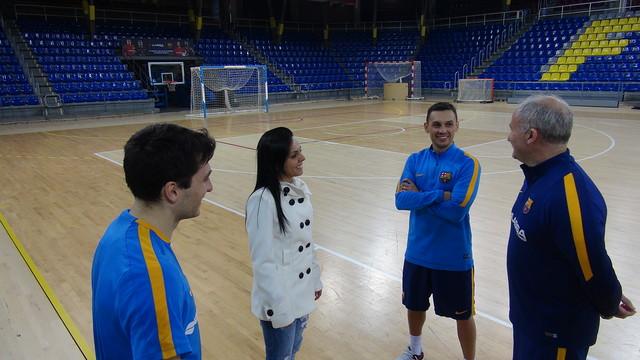 Vanessa visitó el entrenamiento del Barça Lassa