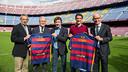 Pau Vilanova, Ramon Alfonseda, José Mari Bakero, Juliano Belletti i Jordi Cardoner / GERMÁN PARGA - FCB